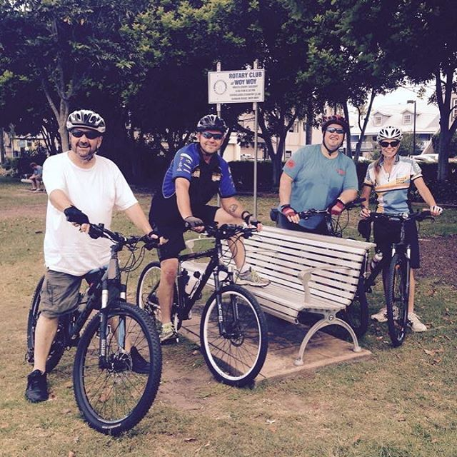 We love a quick pic mid ride! This one is from yesterday afternoons Gosford to Woy Woy Boomerang Rid