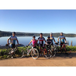 Some #ccbug members out and about this morning on the Loop De Brisbane Waters Ride. Great day for it
