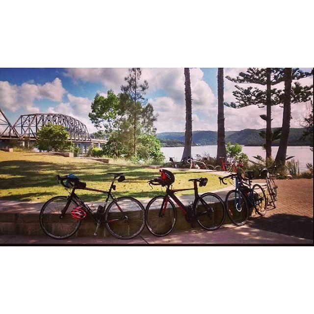 CCBUG bike lean _estuaryrestaurantbrooklyn  from Sunday's Pie In The Sky ride #ccbug  #centralcoastn