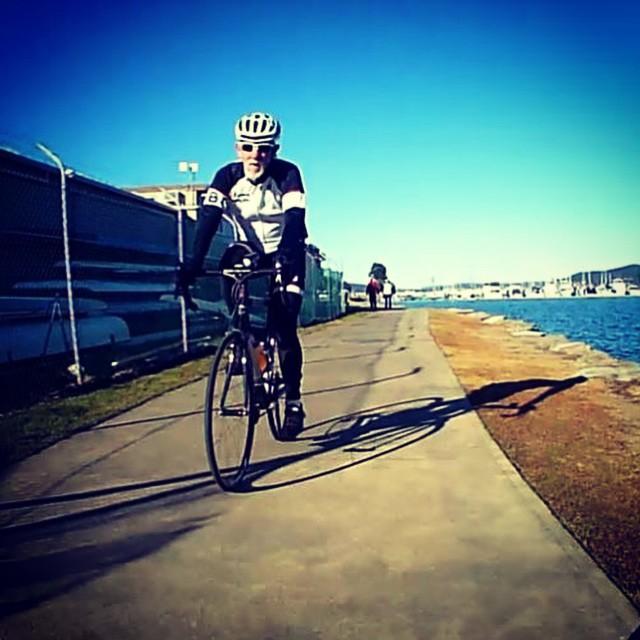 Group ride along Brisbane Water