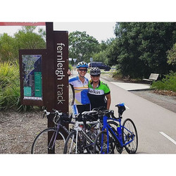 Two of our CCBUG ladies had an awesome time on the Fernleigh Track today! #ccbug #girlswhoride #cycl