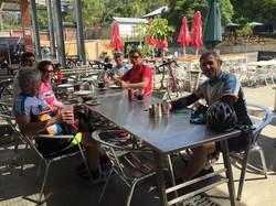 Wyong Milk Factory pit stop before the last leg