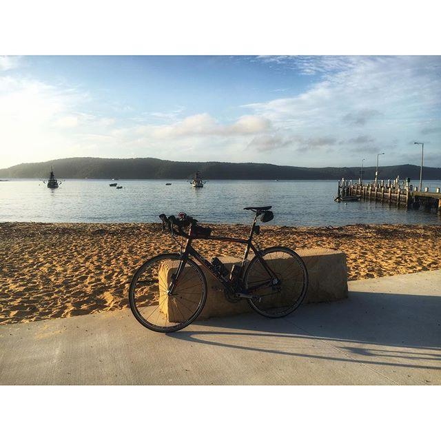 Early Morning bike lean at Patonga NSW..