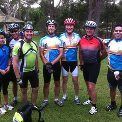 The team that entered the Loop the Lake Charity Bike Ride