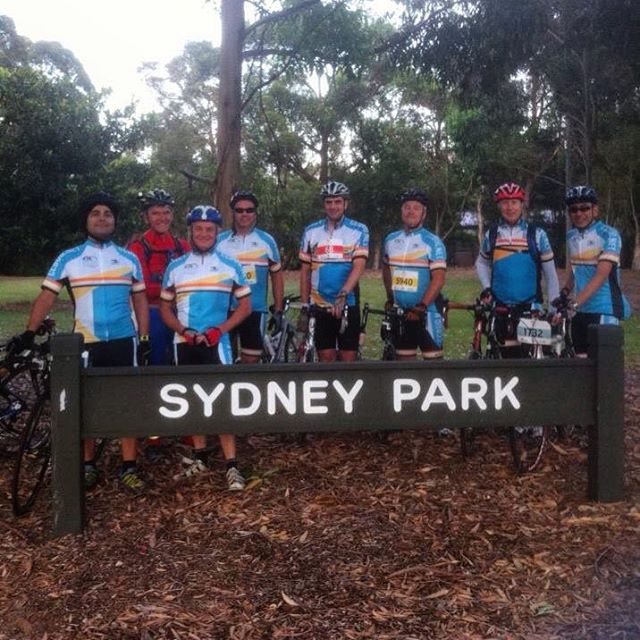 The CCBUG team who entered the MS Sydney 2 Gong Ride 2015