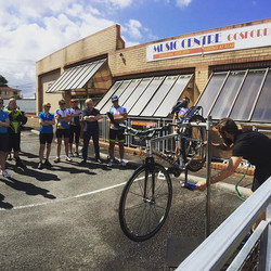 Today's ride involved a lesson in bike cleaning and maintenance hosted by The Edge Cycles.  A specia