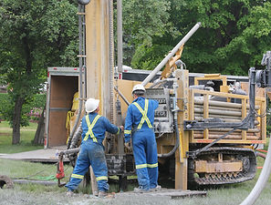 Geothermal drill rig or water well drill rig