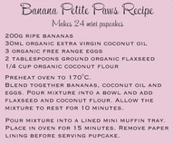 Banana and Coconut Petite Paws