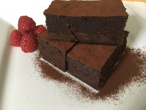Wicked Chocolate Brownies with Raspberry Balsamic