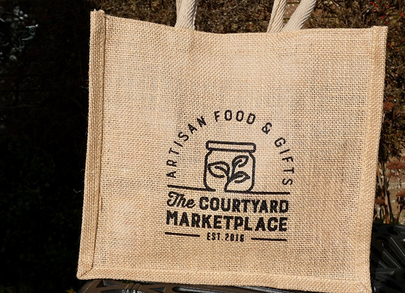 The Courtyard Marketplace Jute Bag