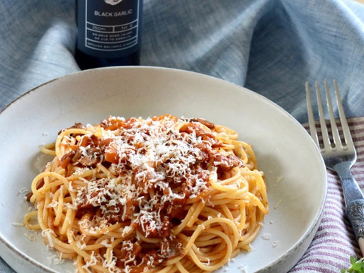 Veggie Ragu with Black Garlic Infused Balsamic Vinegar