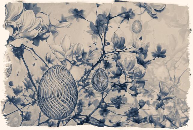 flowers mixed media tree