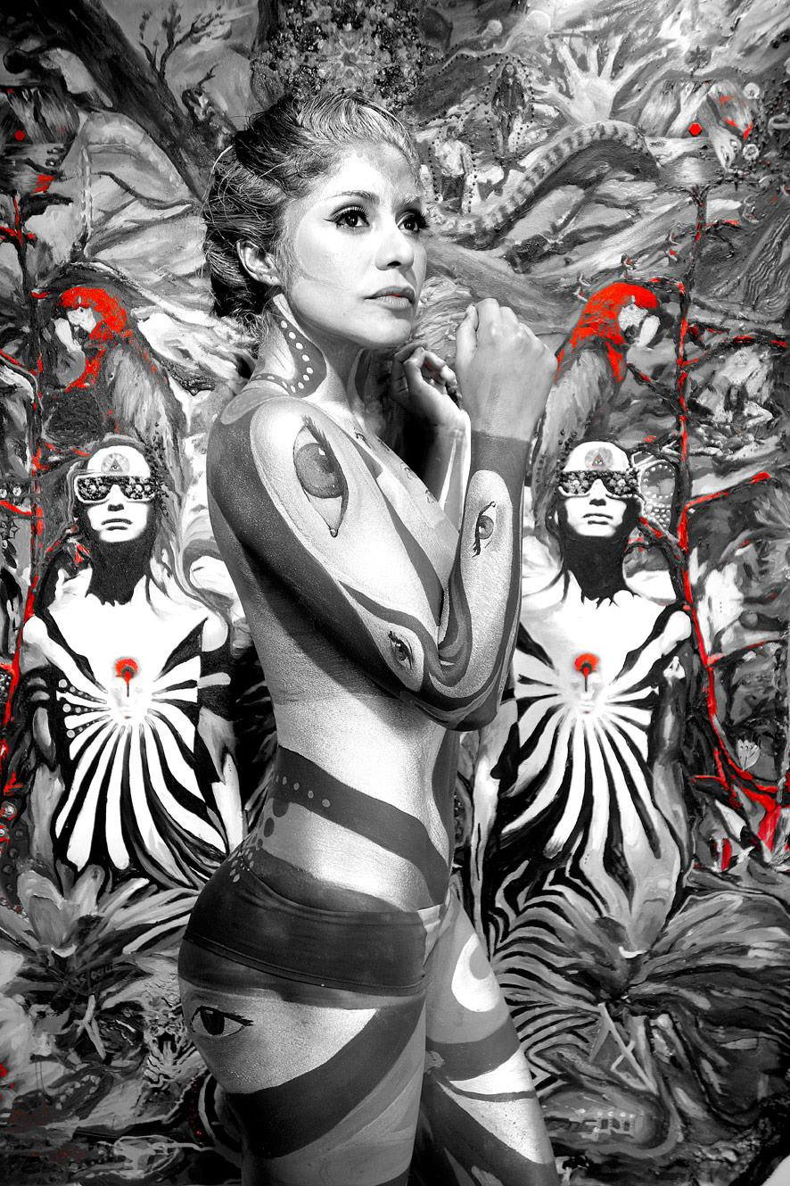 tribe guide strength leader jungle roots war bodypaint