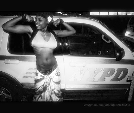 black woman strength pride police NYPD
