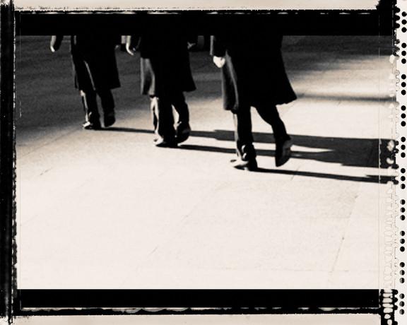 walk men shadow
