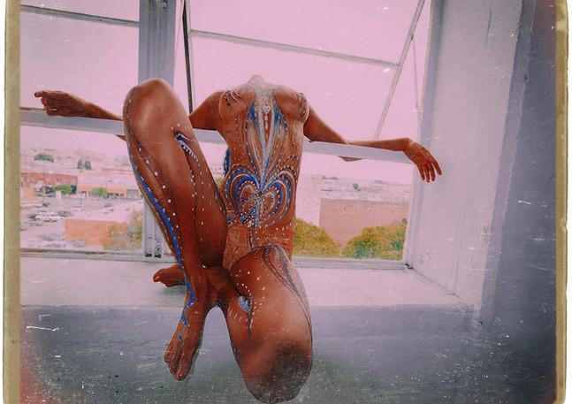window rest nude