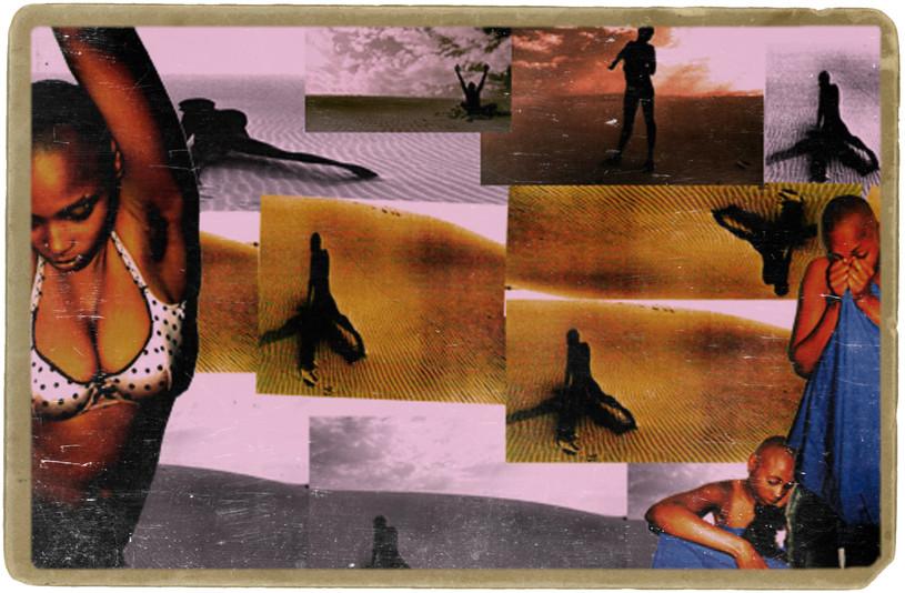 multi media collage black women sex-trafficking human slavery anti-trafficking