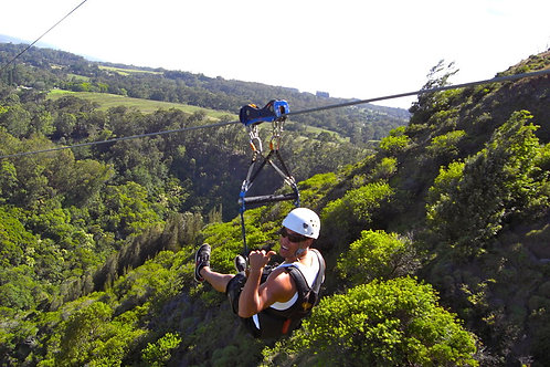 Side by Side Zipline through the Valley