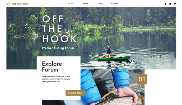 Lifestyle website templates – Fishing Forum