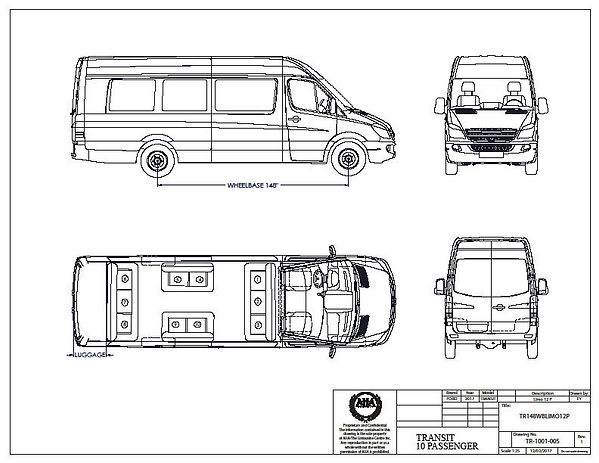 Executive Transit Limo Floor Plan