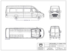 Ford Transit Shuttle with Perimeter Seating