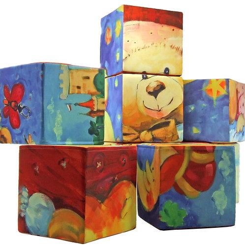 9-teiliges Spielewürfel Puzzle Set