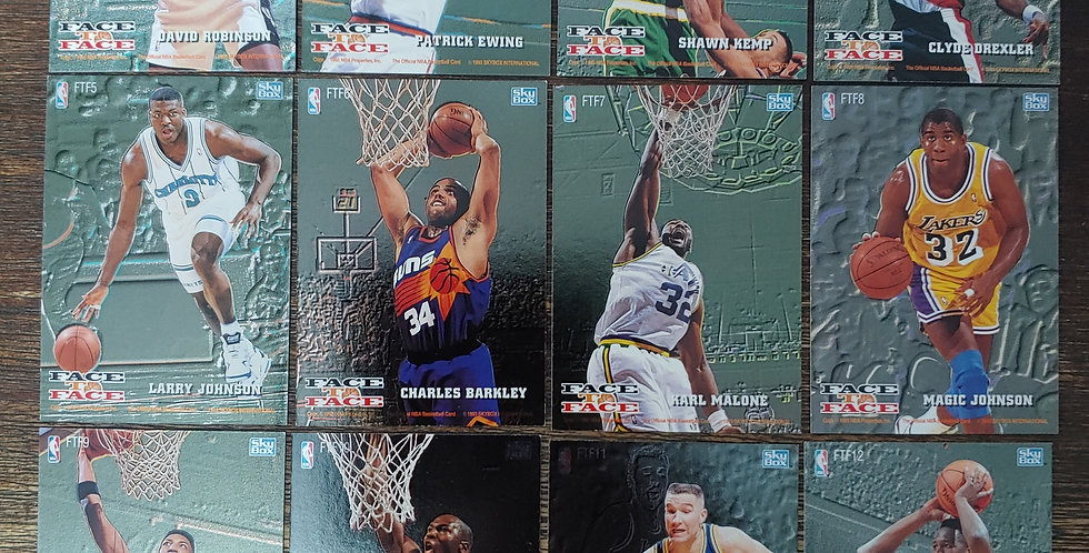 1993-94 NBA Hoops Face To Face - 12 Card Set