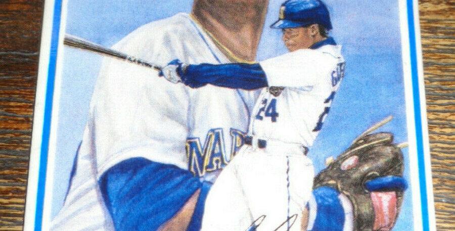 """KEN GRIFFEY JR. Rare Ceramic Card """"Lightning in Seattle"""" 1992 Gartlan Mariners"""