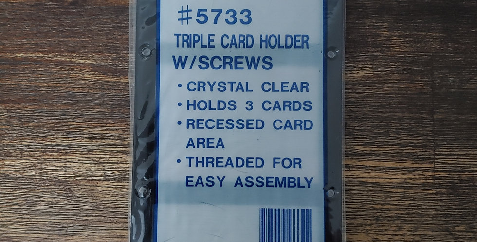 Triple Collector Card Holder (Recessed) with Screws