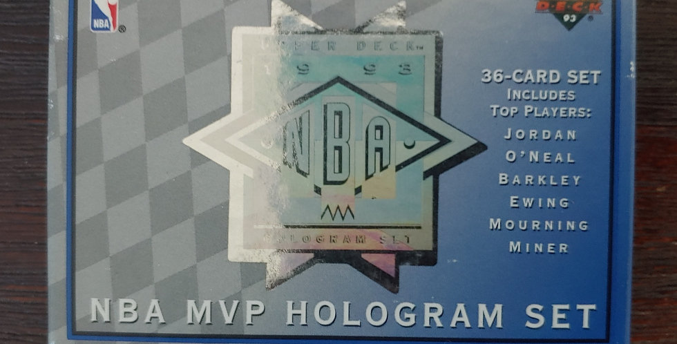 1992-93 Upper Deck NBA Team MVP Hologram Set *OPENED*