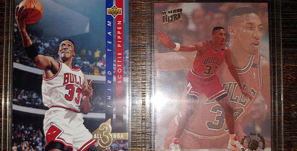 1993-94 Scottie Pippen Fleer Ultra All Defensive Team + Upper Deck All NBA Team