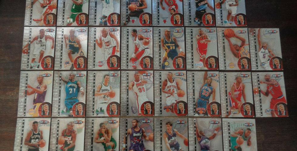 1997-98 Skybox Talkin' Hoops 30 Card Set Bryant Pippen Robinson Kemp Shaq