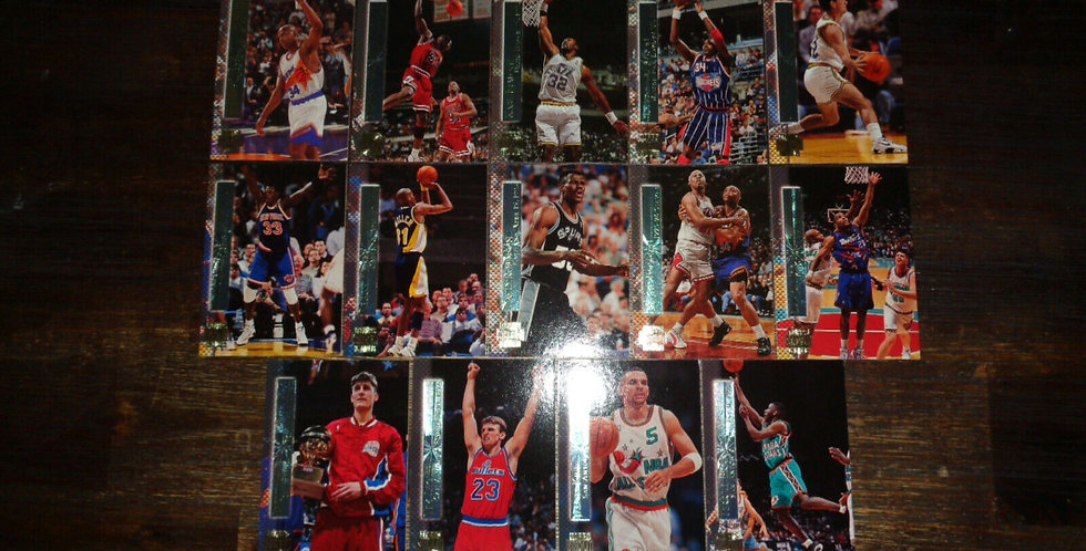 1996-97 Topps Stadium Shining Moments Partial Set - No Iverson Card