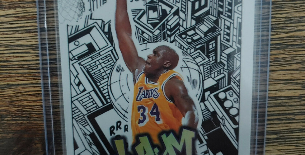 1997-97 Fleer Ultra Jam City Shaquille O'Neal Shaq #8JC Los Angeles Lakers