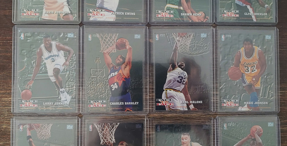 1993-94 Skybox Hoops Face To Face Complete 12 Card Set