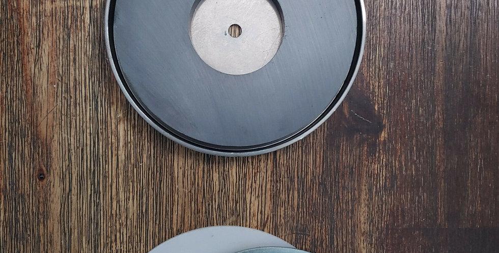 Large Ferrite Pot Magnet 124.46mm Diameter x 12.7mm Depth - 88kg Pull Force