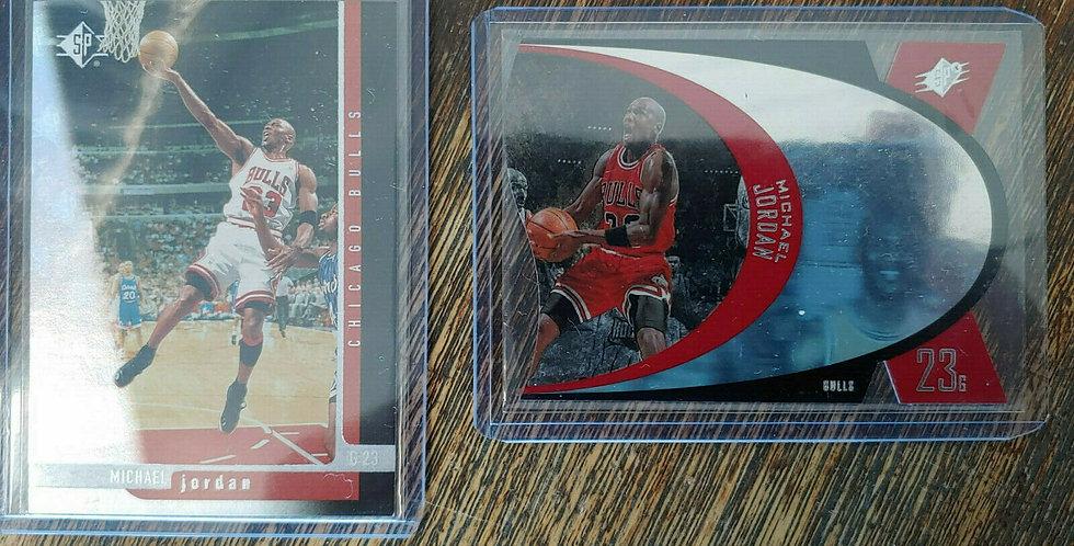 Lot x 2 Michael Jordan Sample Promo Upper Deck Cards - 1997 SPX + 1996 SP