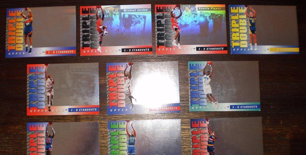 1993-1994 Upper Deck Triple Double 3D Standout 10 Card Setet