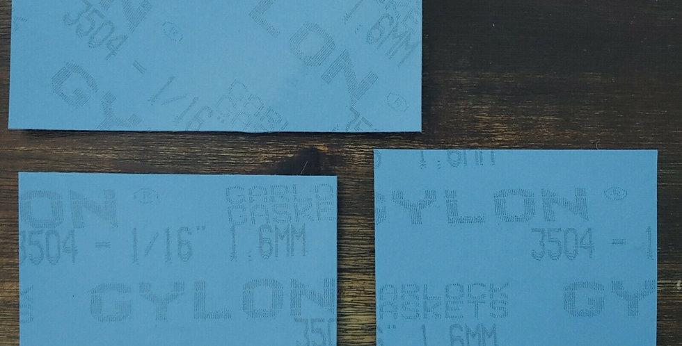 3 x Gylon Blue 3504 off cuts 1.5mm