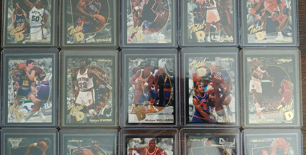 1992-93 Fleer Basketball Total D Complete Set - Michael Jordan Pippen