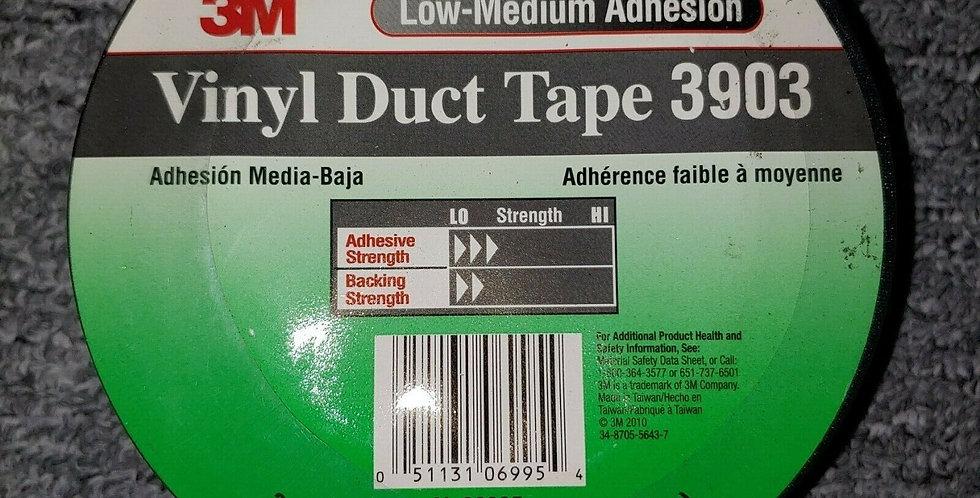 "3M 3903 Duct Tape 2"" x 50 yd, 50mm X 46m Black Vinyl"