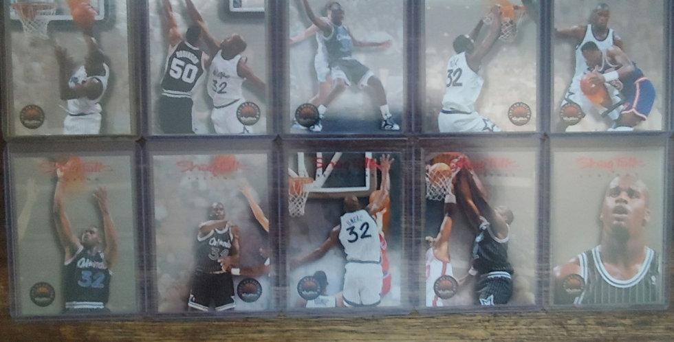 1993-94 Skybox Basketball Shaq Talks Complete 10 Card Set