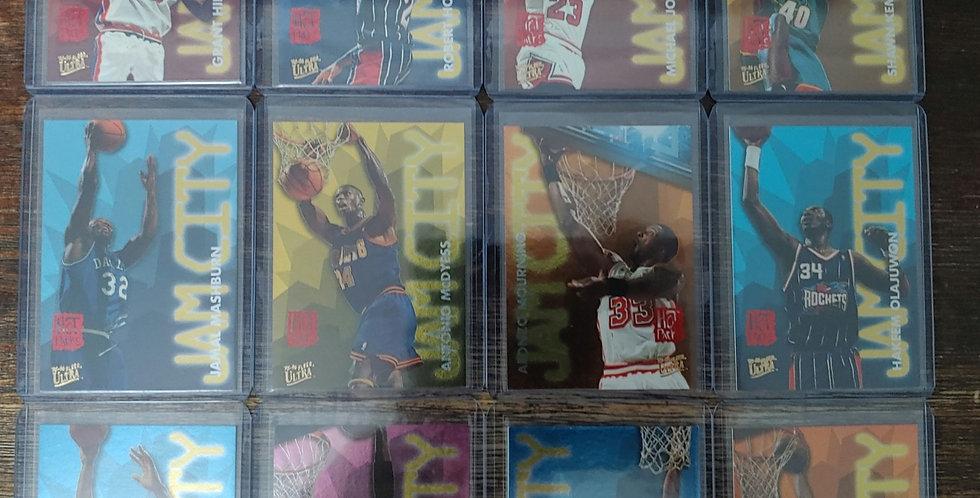1995-96 Fleer Ultra Jam City Hot Packs 12 Card Set