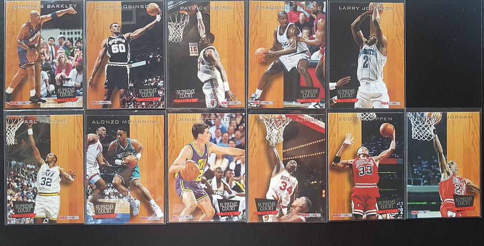 1993-94 Hoops Basketball Supreme Court 11 Card Set