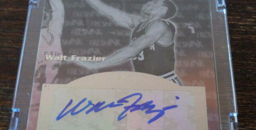 Walt Frazier Fleer Mystique 2012-2013 Auto Autograph Signed Card HOF