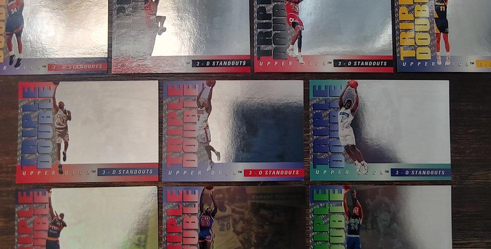 1993-1994 Upper Deck Triple Double 3D Standout 10 Card Set