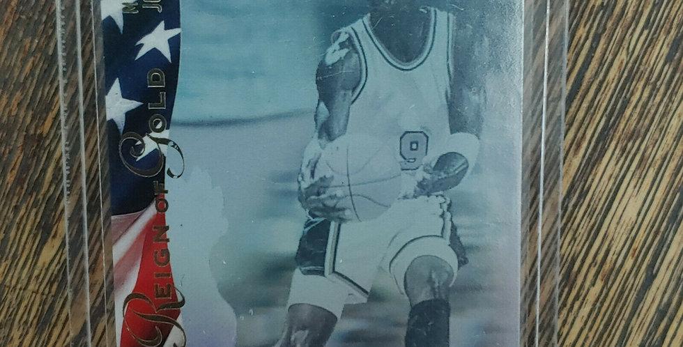 1996 Upper Deck USA Dream Team Michael Jordan Reign Of Gold Hologram Card