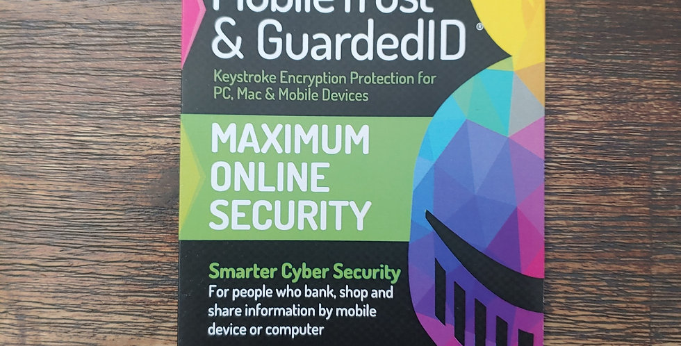 Guarded ID + Mobile Trust Keystroke Encryption - 2 Year Subscription - 2 Device