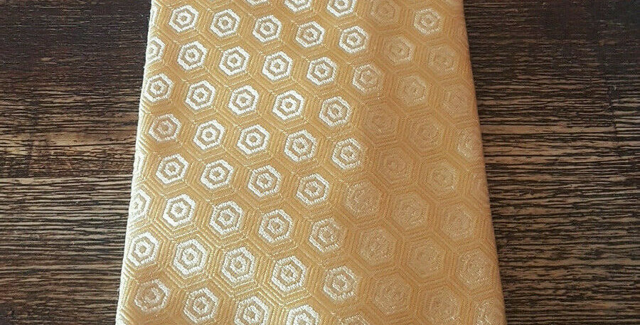 Trent Nathan Mens Tie Yellow Executive Style - Used - Made In Italy