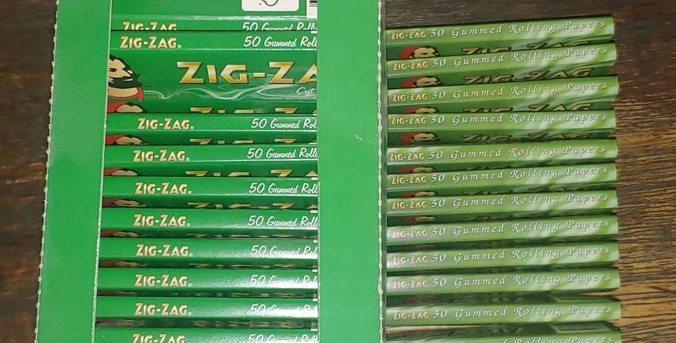 71 Booklets (50 per booklet) Zig Zag Green Regular Size Rolling Papers